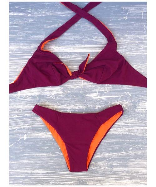 Costume Bikini a triangolo  Reversibile Verdissima