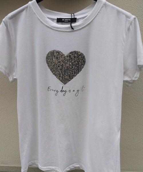 T-shirt  bianca  Be White Milano