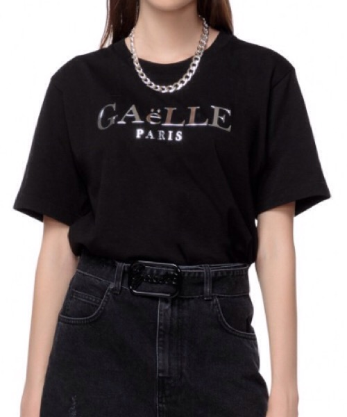 Gaelle Paris T-SHIRT PARICOLLO IN JERSEY APPLICAZIONE STAMPA