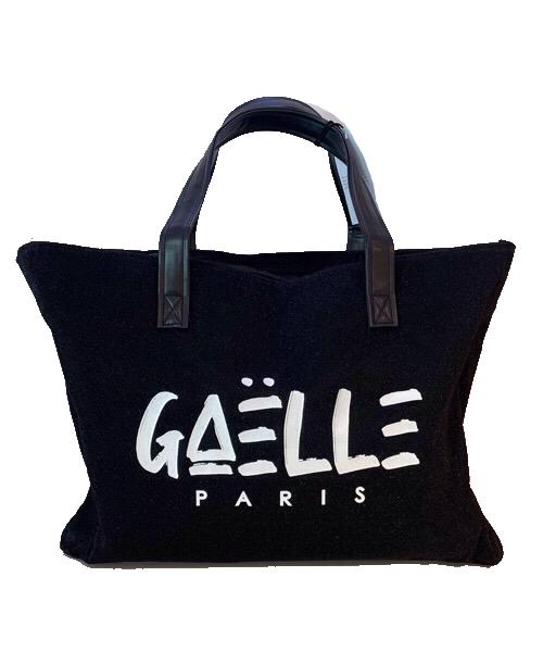 Maxi shopper Mare in tessuto nero Lurex Gaelle Paris