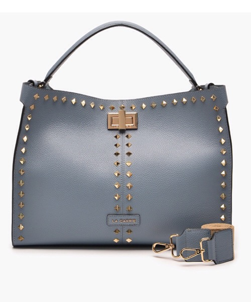 La Carrie Borsa shopping Stud Azzurro