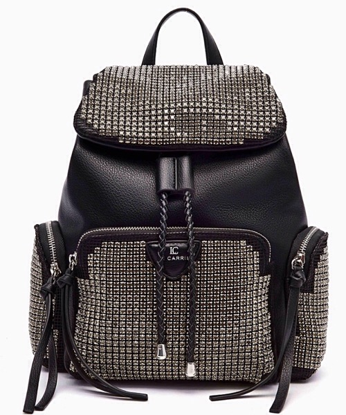 ZAINO NERO-SILVER WIRE ST. BACKPACK SYNT. TUMBLED  La Carrie