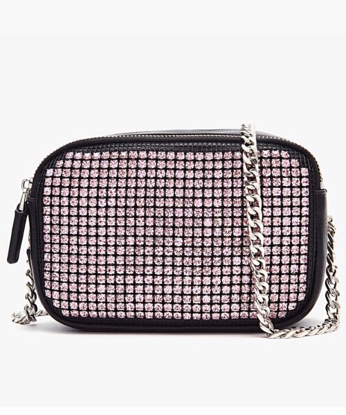 BAG NERO-ROSA WIRE ST. BOX BAG POCKET SYNT. TUMBLED La Carrie