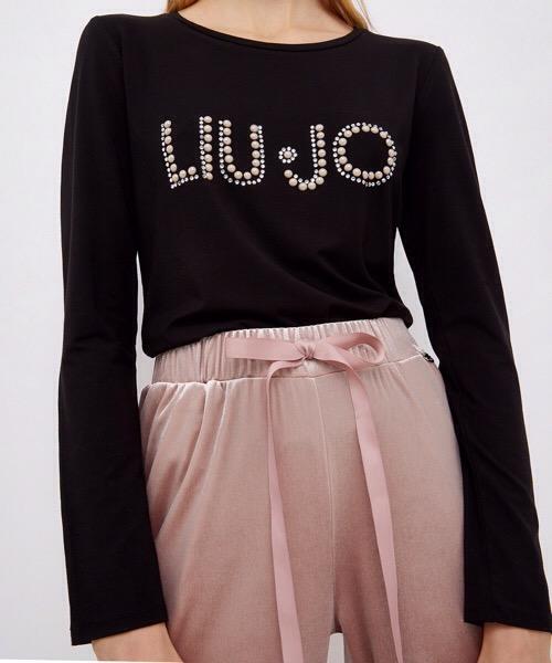 Liu Jo T-shirt nera con logo