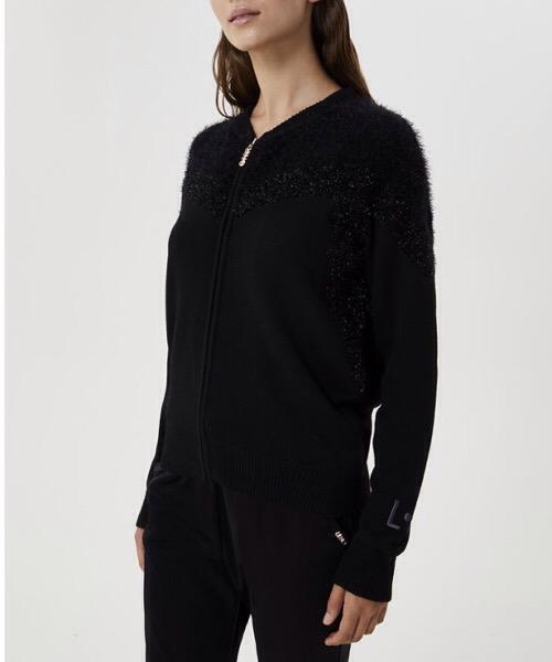 maglia con zip e lurex Liu Jo