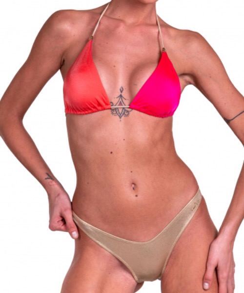 Bikini Pin Up Stars Bikini Triangolo Imbottito Slip Sgambato Bicolor
