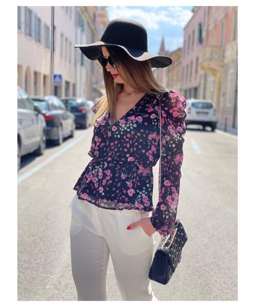 Vanessa Scott camicia stampa floreale