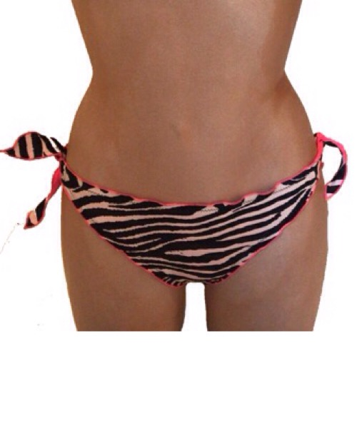Slip tanga con fiocchi zebra Twin-Set Bikini 2020